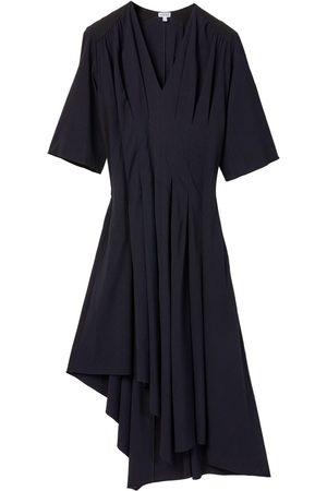 Loewe Robe Asymétrique En Viscose Stretch Plissée