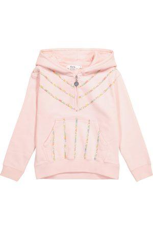 Bonpoint Sweat-shirt à capuche en coton à fleurs
