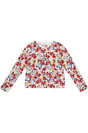 Bonpoint Cardigan en coton à fleurs en coton