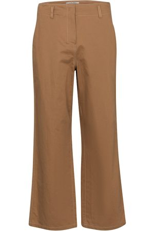 S Max Mara Pantalon Faesite ample en coton et lin