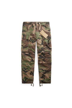 RRL Homme Cargos - Pantalon cargo camouflage en ripstop