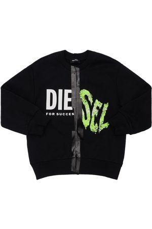 Diesel Sweatshirts - Sweat-shirt En Coton Imprimé Logo