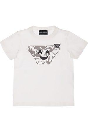 Emporio Armani T-shirt En Jersey De Coton Imprimé