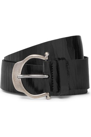 Saint Laurent Homme Ceintures - 3.5cm Cracked-Leather Belt