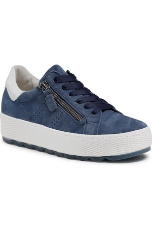 Gabor Sneakers - 66.538.16 Jeans/Weiss