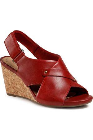 Clarks Femme Sandales - Sandales - Margee Eve 261581354 Red Leather