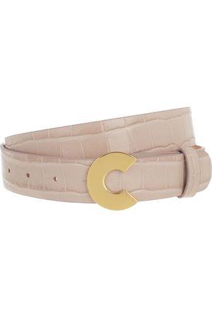 """Coccinelle """"Logo """"""""C"""""""" Croco Shiny Soft Belt"""" en fawn - pour dames"""