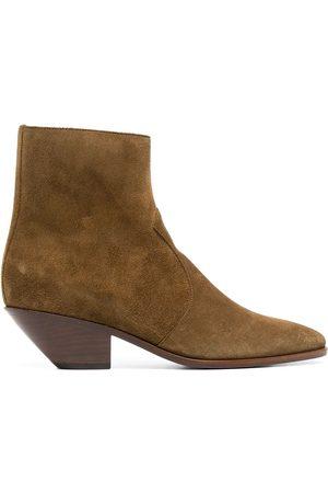 Saint Laurent Femme Bottines - West 45mm suede ankle boots