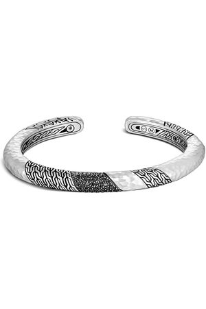 John Hardy Bracelet torque Cassic Chain 6.5 mm en argent à fini martelé