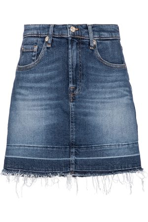 7 for all Mankind Mini-jupe à taille haute en jean