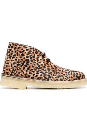 Clarks Originals Desert-boots à imprimé léopard
