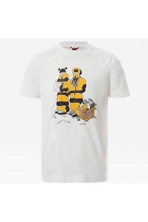 The North Face T-shirt Graphic Pour Enfant Tnf White Him Suit Print Taille L