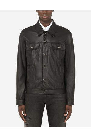 Dolce & Gabbana Collection - BLOUSON STYLE BLOUSON EN DENIM EN CUIR male 48