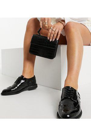 ASOS DESIGN More - Chaussures plates pointure large à lacets