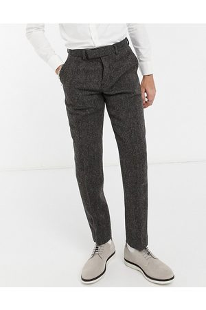 ASOS DESIGN Pantalon de costume slim en tweed Harris 100 % laine à chevrons