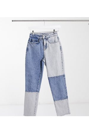 Reclaimed Vintage Inspired - The 91' - Jean mom - patchwork
