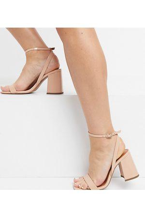 ASOS DESIGN Wide Fit - Hudson - Sandales minimalistes à talon carré