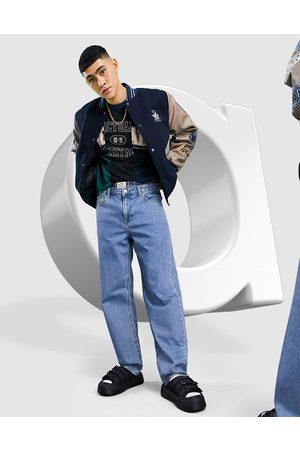 ASOS DESIGN Jean baggy - délavé moyen