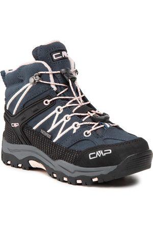 CMP Chaussures de trekking - Kids Rigel Mid Trekking Shoe Wp 3Q12944 Asphalt/Rose