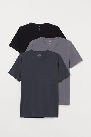 H&M T-shirts Slim Fit, lot de 3