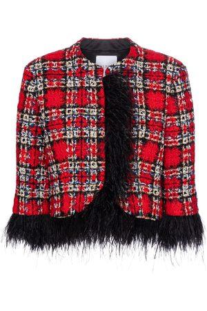 adidas Veste en tweed de laine mélangée à plumes