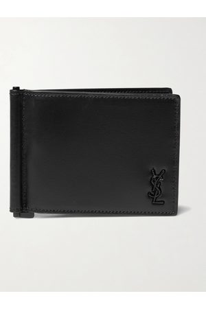 adidas Logo-Appliquéd Leather Wallet with Money Clip