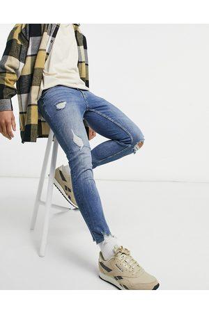 Pull&Bear Premium - Jean à coupe ajustée à déchirures - moyen délavé