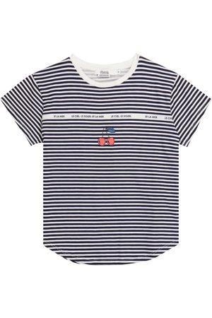 BONPOINT Fille T-shirts - T-shirt rayé en coton