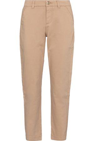 7 for all Mankind Femme Pantalons coupe droite - Pantalon droit en coton mélangé