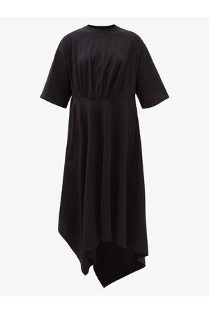 Balenciaga Robe T-shirt en jersey de coton asymétrique