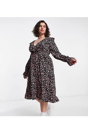 Yours Robe portefeuille à imprimé dalmatien - Rose