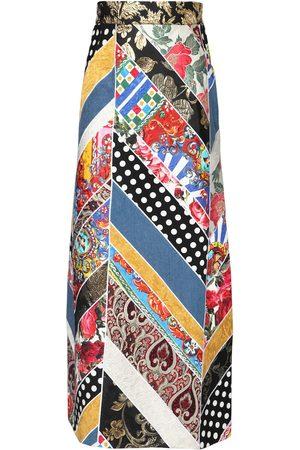 Dolce & Gabbana Femme Jupes - Jupe En Patchwork De Jacquard Et Brocart