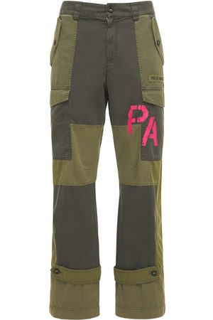 Palm Angels Homme Cargos - Patchwork Military Canvas Cargo Pants