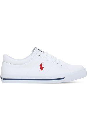 Ralph Lauren Sneakers À Lacets En Toile De Coton À Logo