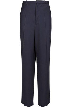 Balenciaga Pantalon Oversize En Sergé De Laine