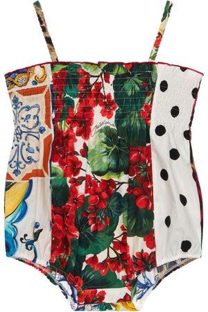 Dolce & Gabbana Body En Patchwork De Popeline De Coton