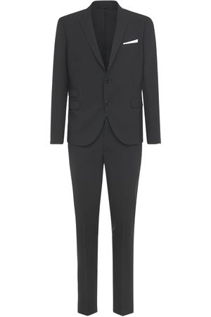 Neil Barrett Costume Slim En Gabardine De Laine Stretch