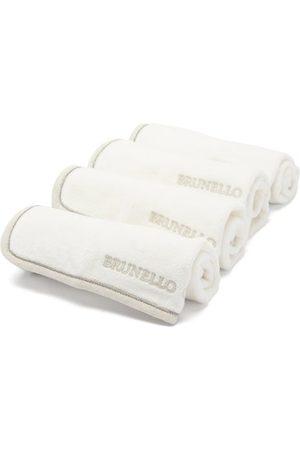Brunello Cucinelli Ensemble de quatre chamoisines en coton