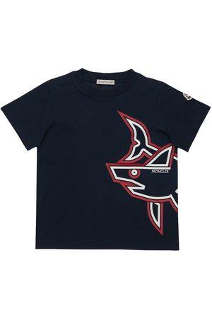 Moncler T-shirts - T-shirt En Jersey De Coton Imprimé Requin