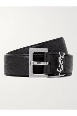 Saint Laurent Homme Ceintures - 3cm Full-Grain Leather Belt