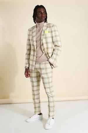 Boohoo Pantalon de costume skinny à carreaux Homme