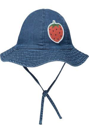 Mini Rodini Chapeau Strawberry brodé en jean