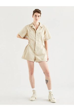 Levi's Alva Cinch Waist Romper Neutral / Safari
