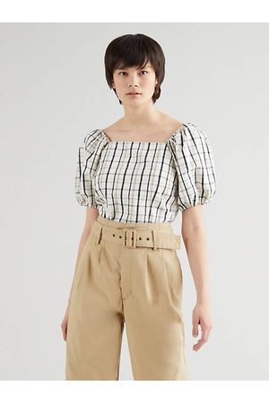 Levi's Vera Blouse / Sally Plaid Cloud Dancer