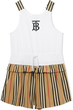 Burberry Fille Combi-shorts - Combishort à rayures Icon
