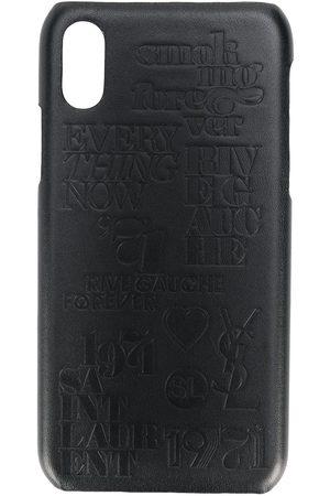 Saint Laurent Coque pour iPhone X à détails de fentes