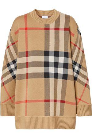 Burberry Femme Pulls en maille - Pull à motif Vintage Check