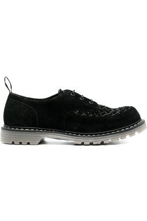 Premiata Chaussures en cuir à détail tissé