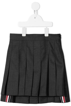 Thom Browne Fille Mini-jupes - Minijupe Super 120s à design plissé