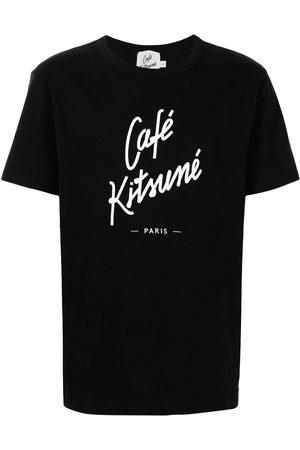 Maison Kitsuné Débardeurs - Logo print crew-neck T-shirt